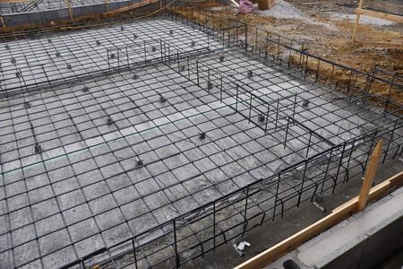 Photo pour Foundation work of housing construction - image libre de droit