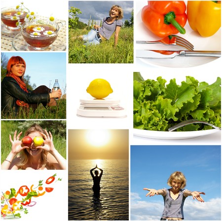 Healthy lifestyle. Healthy nutrition and fitness concept