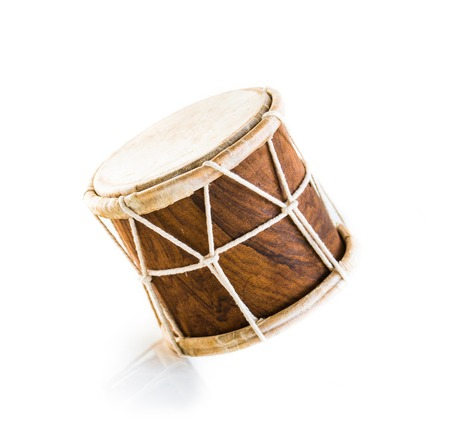 African drum isolated on white