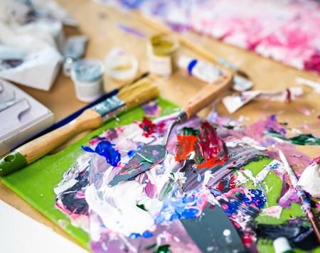 Photo pour Fragment of oil artwork, soft focus - image libre de droit