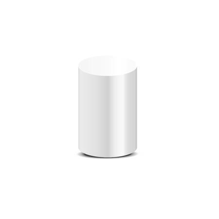 Photo pour White cylinder on white background. Vector illustration - image libre de droit