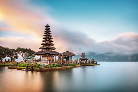 Photo for Ulun Danu Beratan Temple is a famous landmark located on the western side of the Beratan Lake , Bali ,Indonesia. - Royalty Free Image
