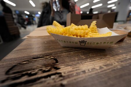 Photo for Crispy french Fries at Shake Shack in JFK Airport - Royalty Free Image