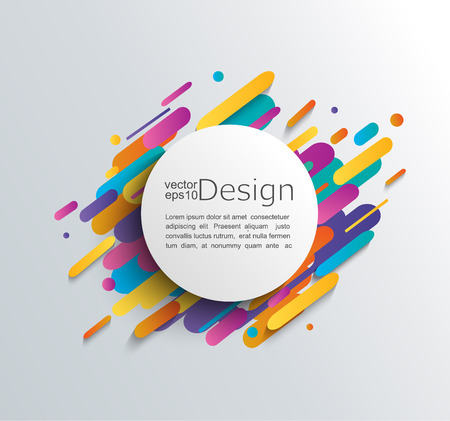 Ilustración de Colorful abstract template design. - Imagen libre de derechos