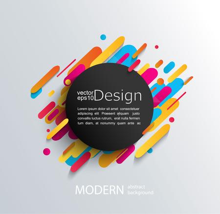 Ilustración de Circle frame with dynamic rounded shapes on modern and abstraction background. Vector illustration. - Imagen libre de derechos