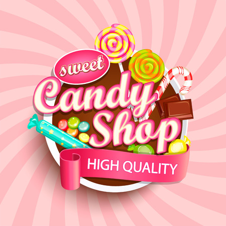 Illustration for Candy shop signage design. - Royalty Free Image