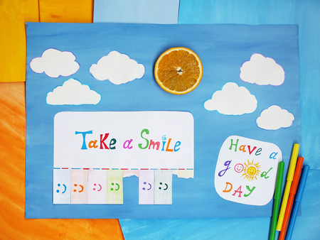 Take a smile, positive thinking concept