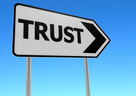 Trust road sign