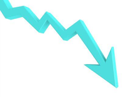 Blue graph down