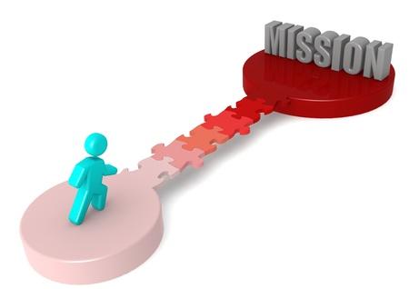 Puzzle bridge to mission