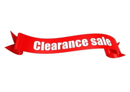 Clearance sale ribbon