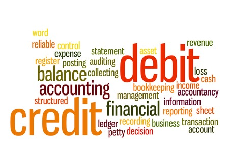 Credit debit word cloud