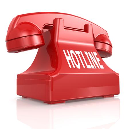 Red hotline phone