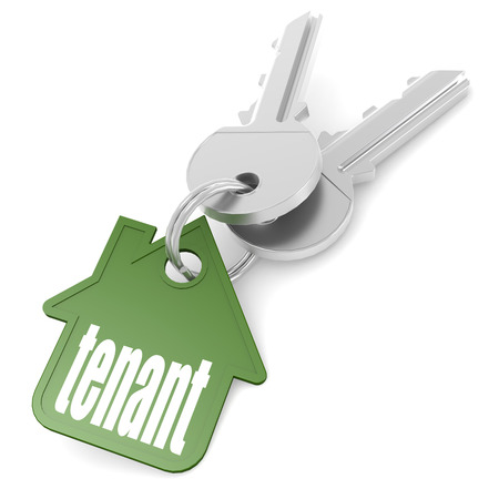 Photo pour Keychain with tenant word image with hi-res rendered artwork that could be used for any graphic design. - image libre de droit