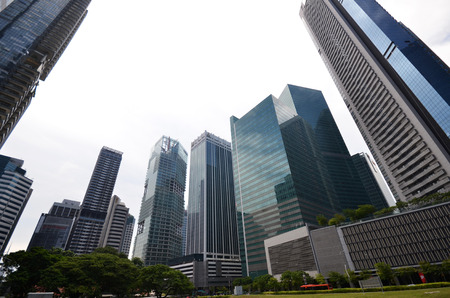 SINGAPORE - 07 AUGUST, 2016: Central Business District in Singapore. Banking in Singapore is a service industry that has grown significantly in recent years.