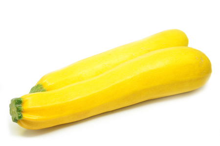 Foto de Yellow squash isolated on white background - Imagen libre de derechos