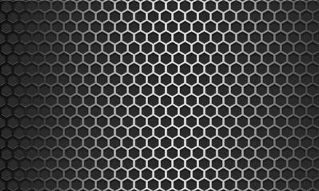 Photo for Metal texture pattern with hexagon mesh design, 3d rendering - Royalty Free Image