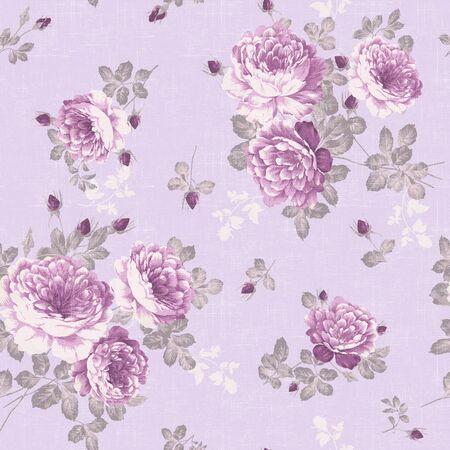 Vintage Florals In Lavendar