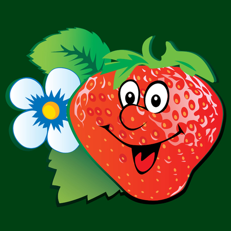 Lively strawberry.