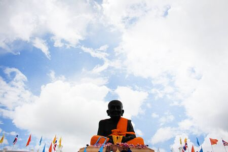 Buddha statue on Background sky