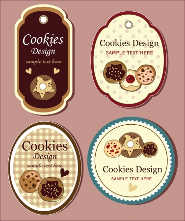 chocolate cookie set of banners