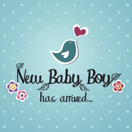 Illustration for baby card design  illustration - Royalty Free Image