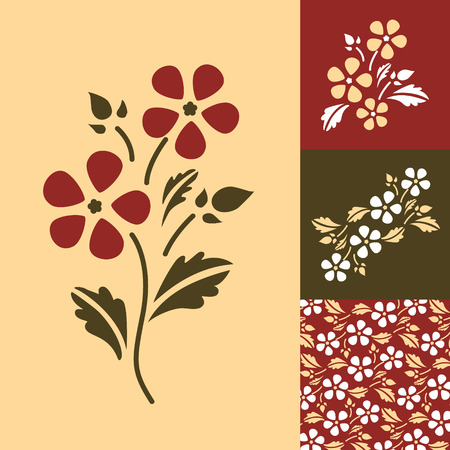 Abstract floral background. Spring.