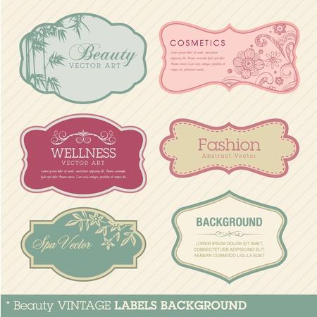 Beauty vintage labels