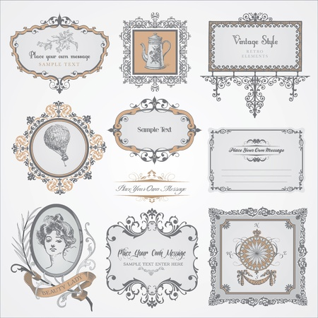 Photo for Collection of vintage labels and stickers  - Royalty Free Image