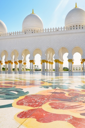 Detail of Sheikh Zayed Mosque in Abu Dhabi, United Arab Emirates