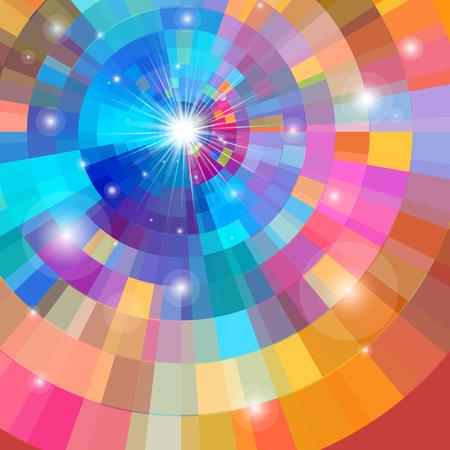 Ilustración de Bright multicolored gradient background - Imagen libre de derechos