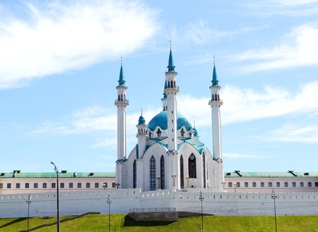 Photo of the beautiful mosque Kul-Sharif in Kazan Tatarstan