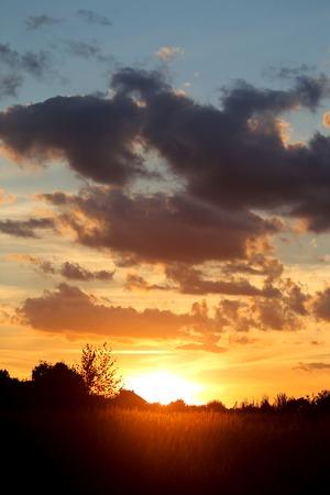 Beautiful photo of a bright sunset