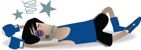 KO boxer cartoon vector