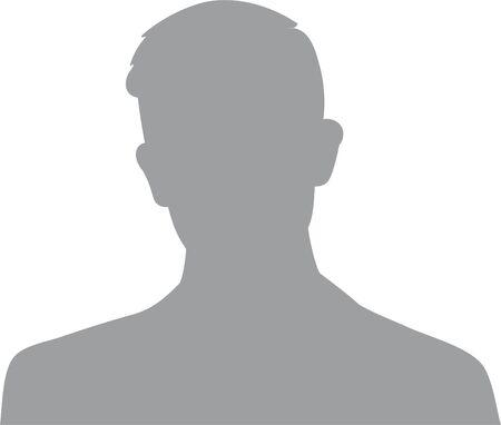 Illustration pour Hand drawn, modern, man avatar profile icon (or portrait icon). User flat avatar icon, sign, profile male symbol - image libre de droit