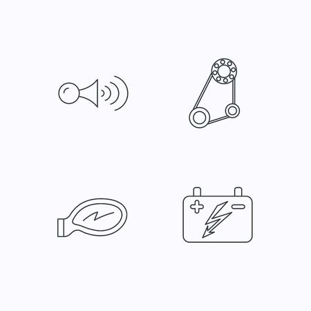 Klaxon signal icon  Car horn sign  Group of people, video cam and