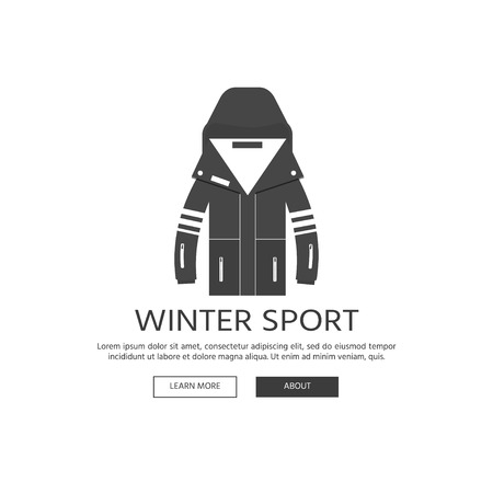 f3ff740339d6 Winter sport icons collection. Skiing and snowboarding set equipment  isolated on white background in flat