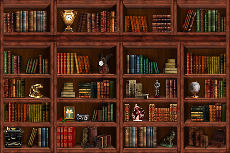 Photo pour Bookcase - image libre de droit