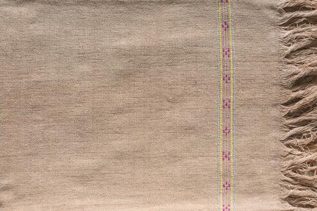 Close up on pattern of cloth. handmade by Karen Pa-ka-geh-yor in Thailand
