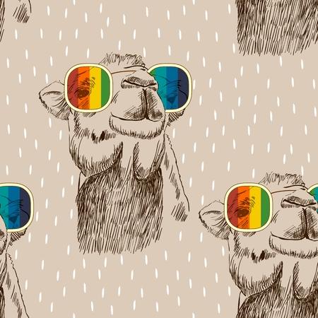 Ilustración de Vector retro camel - Imagen libre de derechos