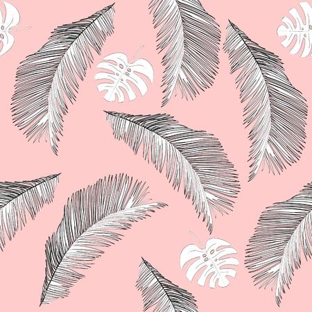 Illustration pour Tropical seamless pattern - image libre de droit