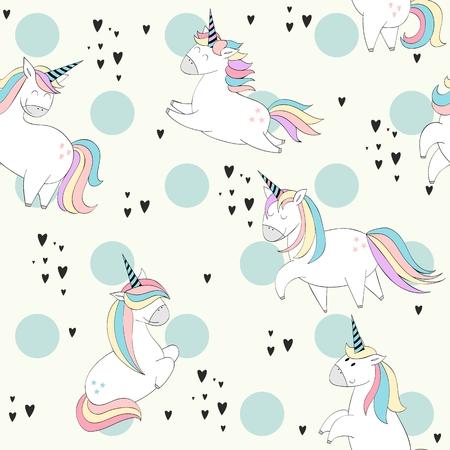 Photo pour Magic cute unicorns - image libre de droit