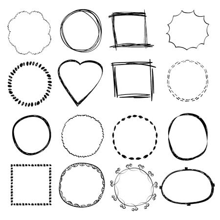 Illustration pour Hand Drawn Frames - image libre de droit
