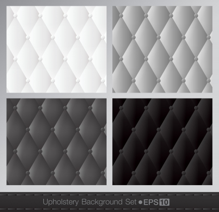 Vector abstract upholstery background  Black and white set