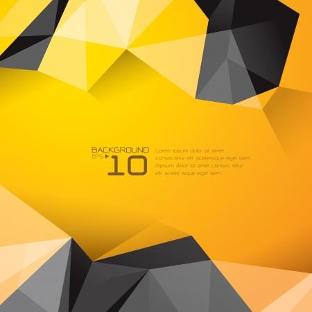 Foto de Polygonal design - Abstract geometrical background   - Imagen libre de derechos