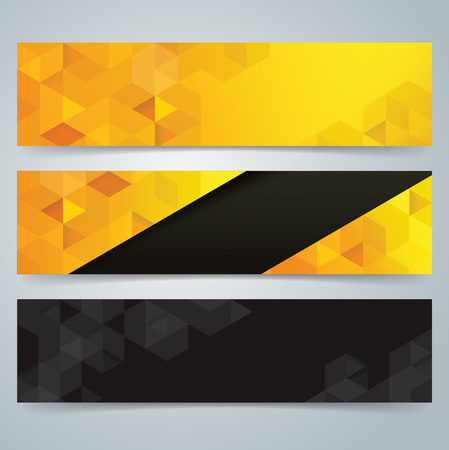 Collection banner design, Geometric background.