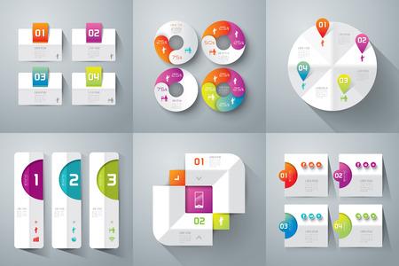 Abstract 3D digital illustration Infographics.
