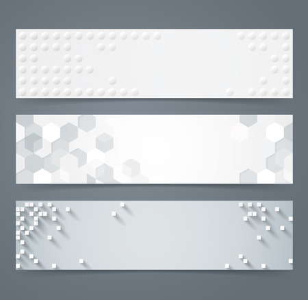 Illustration for Collection of geometric background banner. - Royalty Free Image