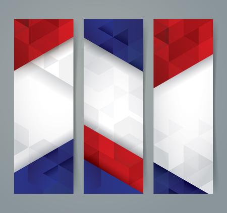 Illustration pour Collection banner design, France flag colors background. - image libre de droit