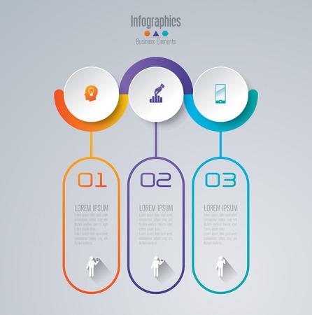 Illustration pour Infographic design template set and business icons. - image libre de droit